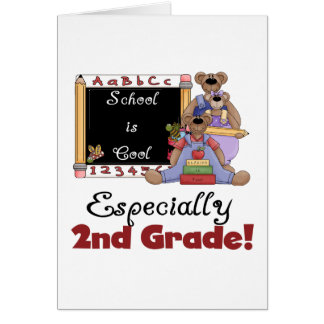 School is Cool Especially 2nd Grade Greeting Card