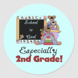 School is Cool Especially 2nd Grade Classic Round Sticker