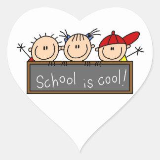School is Cool Heart Sticker