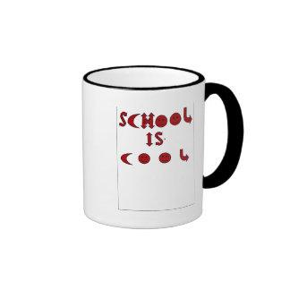 School is Cool  in school colors Ringer Mug