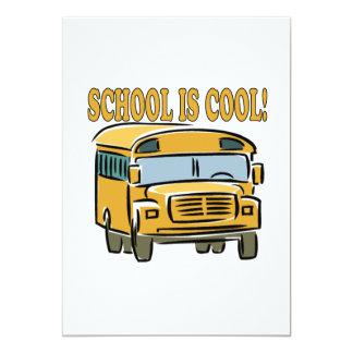 "School Is Cool 5"" X 7"" Invitation Card"
