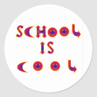 School is Cool items Classic Round Sticker