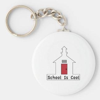 School is Cool Basic Round Button Keychain