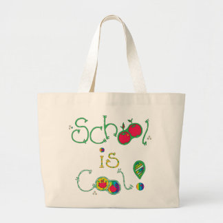 School Is Cool Large Tote Bag