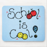 school is cool mouse pad