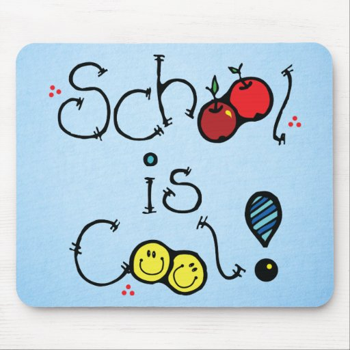 school is cool mousepads
