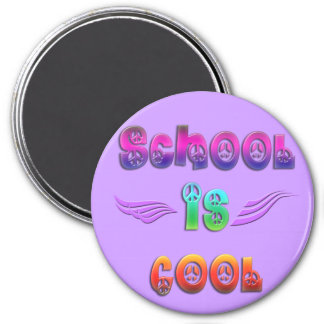School is Cool - Peace 3 Inch Round Magnet