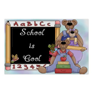 School is Cool Poster print