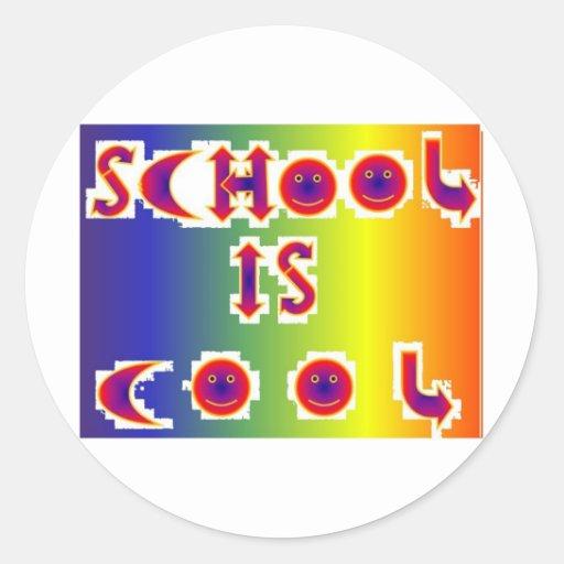School is Cool Round Sticker
