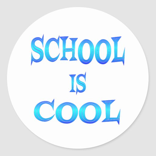 School is Cool Round Stickers