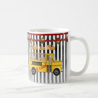 School is Cool School bus Coffee Mugs