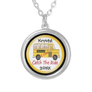 School is Cool School bus Custom Necklace