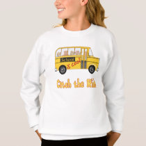 School is Cool School bus Sweatshirt