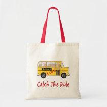 School is Cool School bus Tote Bag