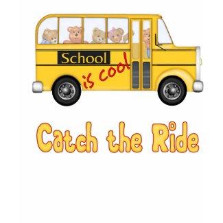 School is Cool School bus shirt