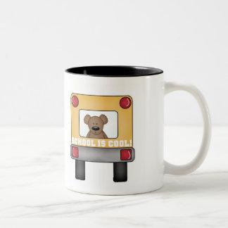 School is Cool School Bus Two-Tone Coffee Mug