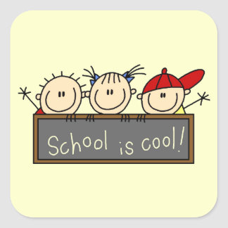 School is Cool Square Sticker