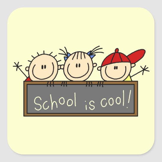 School is Cool Square Sticker
