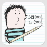 School is Cool Stickers (Square)