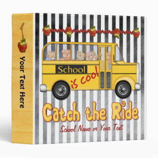 School is Cool Yellow Schoolbus Binder