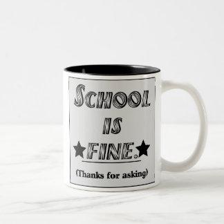 School Is Fine Two-Tone Coffee Mug