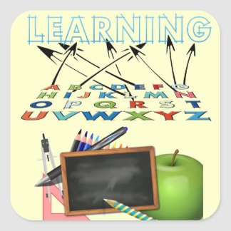 School is for Learning Square Sticker
