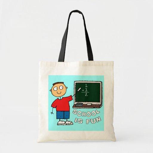 SCHOOL IS FUN CANVAS BAGS