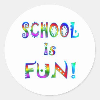 School is Fun Classic Round Sticker