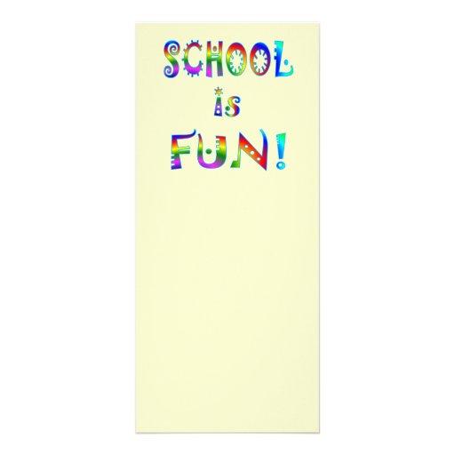 School is Fun Personalized Rack Card