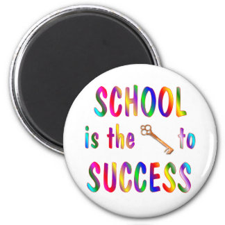 School is Key to Success 2 Inch Round Magnet