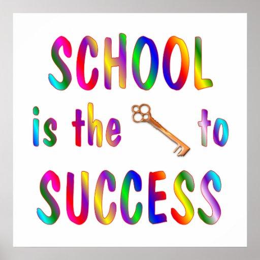 School is Key to Success Print