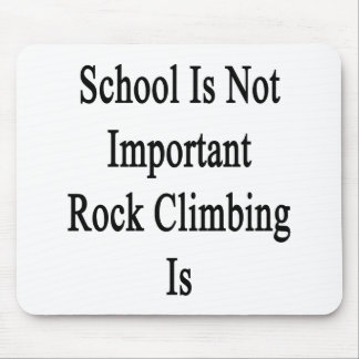 School Is Not Important Rock Climbing Is Mouse Pads