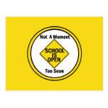 School is Open Postcard