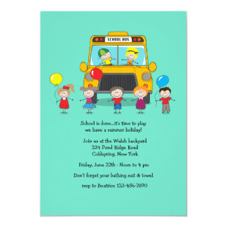 School is Out Party Invitation