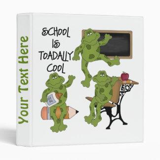 School Is Toadally Cool Kids Notebook 3 Ring Binder