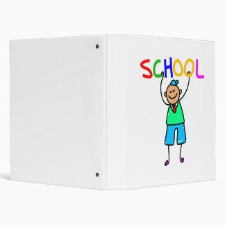 School Kid Vinyl Binder