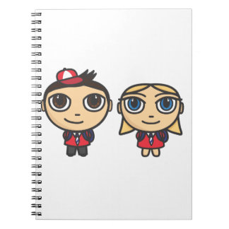 School Kids cartoon characters Notebooks