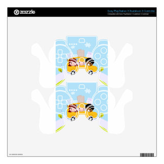 School kids in yellow bus decal for PS3 controller