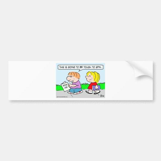 school kids report card tough spin bumper sticker