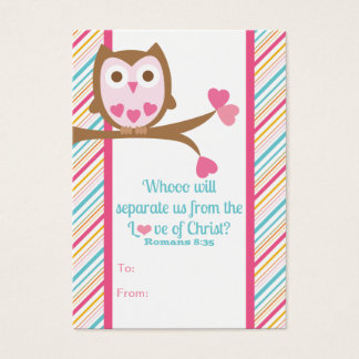 School Kids Scripture Valentine's Day Classroom Ca Business Card