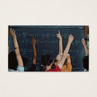 School Kids Teacher Business Cards