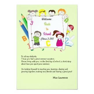 "School Kids Teacher's Ice Breaker Notecard 5"" X 7"" Invitation Card"
