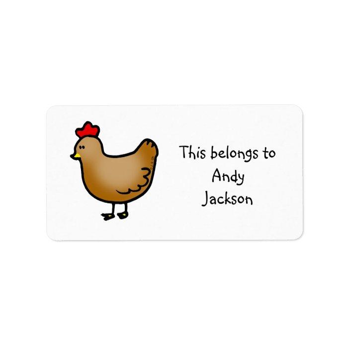 School Labels (chicken)