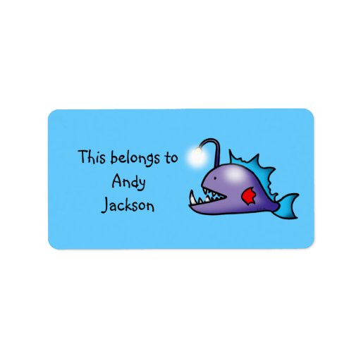School Labels ( deep sea fish )