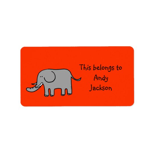 School Labels (elephant)