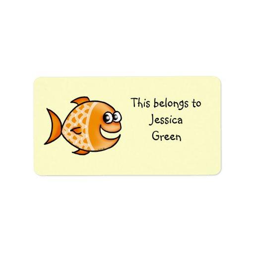School Labels (fish)