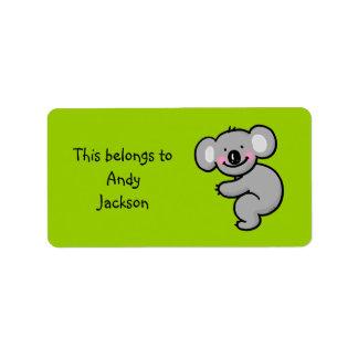 School Labels ( koala bear )
