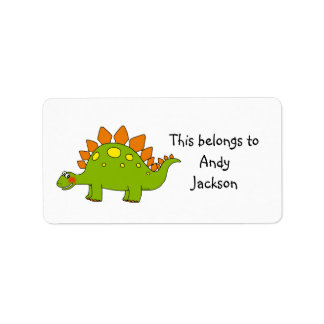 School Labels ( stegosaurus )