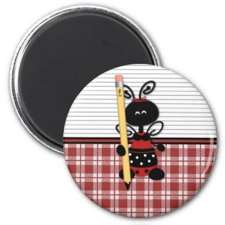 School Ladybug with Pencil Magnets