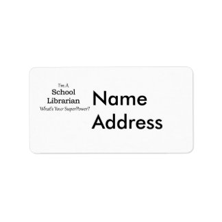 School Librarian Label